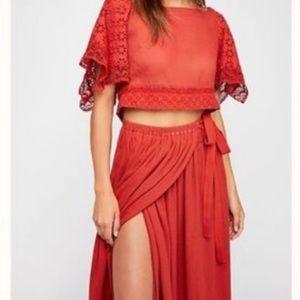 Free People Boho Darling Skirt and Top NWT